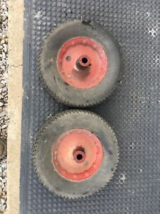 Lot Of 2 12 X 3 Solid Rubber Torch Cart Greasable Wheels 3 4 Hole 4 Hub