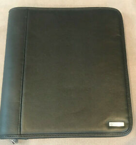 Franklin Covey Desk Zipped Slip Exterior Pocket Planner Binder Organizer