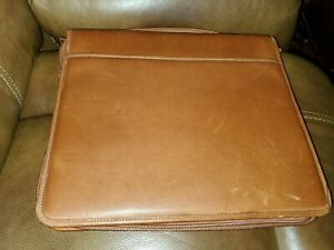 Levenger Taupe Fine Folio letter Preowned Has A Spot On Back See Pictures