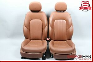 14 17 Maserati Ghibli Front Left Right Complete Seat Cushion Assembly Brown