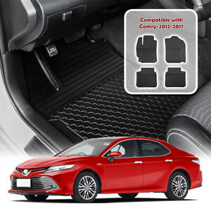 Floor Mats Liners For Toyota Camry 2012 2017 Custom All Weather Rubber Black
