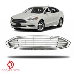Fit Ford Fusion 2017 2018 Front Upper Grille Grill Factory Style Chrome