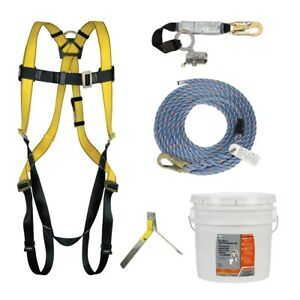 Safety Works Fall Protection Kit 10095901 Six piece Meets Osha Ansi W bucket