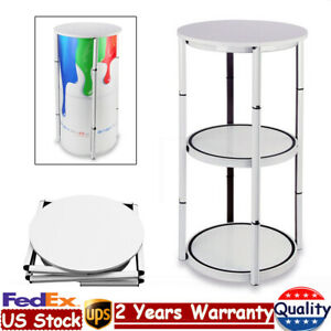 41 7 Portable Folding Round Twister Tower Spiral Display Case Aluminum Pvc Us