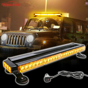 Emergency Strobe Lights Magnetic Amber 26 5 54led Warning Flash Roof Top Beacon