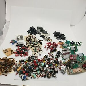 Electronic Project Breadboard Components Switches Led I c Boards Huge Lot