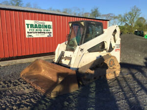 2010 Bobcat T320 Compact Track Skid Steer Loader W Cab Steel Tracks 3100hrs