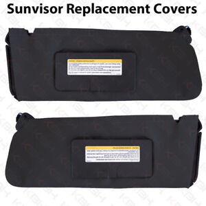 Sun Visor Replacement Cover Leather For 95 99 Chevy Tahoe Suburban Yukon Black