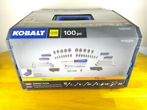 Kobalt 100 Pc Sae metric Mechanic s Set With Tool Chest 0787355 Made In Taiwan