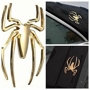 3d Universal Car Truck Auto Spider Gold Badge Sticker Logo Emblem Marker Decal