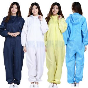 Hazmat Suit Protection Clothing Laboratory Hood Gown Coverall Healthy