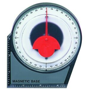 Magnetic Dial Gauge Angle Finder Inclinometer Protractor Pinion Tool