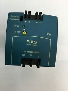 Puls Power Supply Ml100 102 Output 12 15v Volts 13 8v Regulated Din Rail 100 240