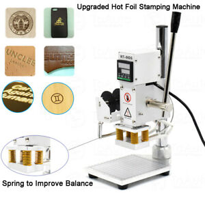 110v Digital Hot Foil Stamping Machine For Leather Pvc Logo Bronzing 10x13cm Us