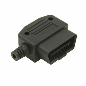 Universal Obd2 Obdii 16 Pin Male Cable Connector Plug Adapter Diagnostic Tool R2