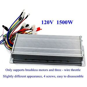 120v 1500w Electric Bicycle E bike Scooter Brushless Dc Motor Speed Controller