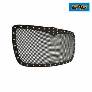 Eag Grill Rivet Black Steel Wire Mesh Grill W Abs Shell Fits 05 10 Chrysler 300c