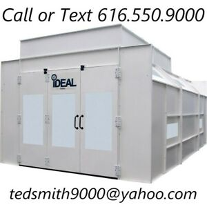 New Ideal Semi Down Draft Pressurized Paint Booth 230 460v 29 4 X 14 4 X 9 7