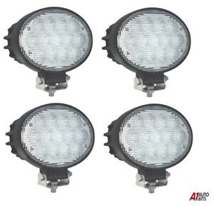 4 Pcs High Power 65w Led 6 3 Oval Led Work Lights 12 24v Lorry Tractor Offroad