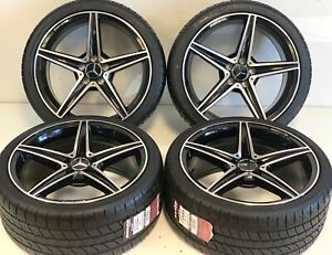 19 Wheels Rims Tires Fit Mercedes Benz S550 Amg S63 C63 C E Set 4 Gray Machined