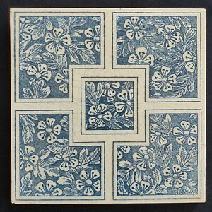Aesthetic Movement Blue And White Tile Maw Co C 1880