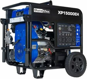 Duromax 15 000 w Portable Hybrid Dual Fuel Powered Generator With Electric Start