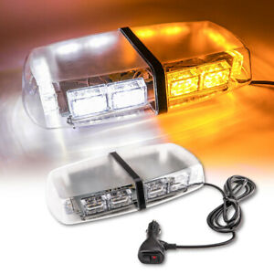 36led Roof Top Strobe Light Bar For Truck Emergency Warning Flash Amber White