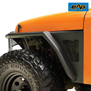 Eag Rock Crawler Tube Front Fender Flare With Mesh Fit 87 96 Jeep Wrangler Yj