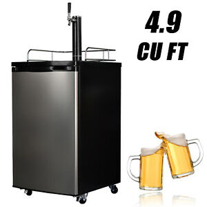 Draft Beer Kegerator Refrigerator Dispenser Fridge Cooler W co2 Can 4 9 Cu Ft
