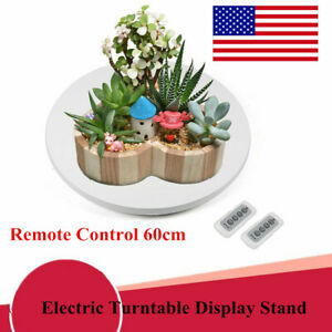Remote Control 60cm Electric Turntable Display Stand Base Rotating Platform Usa