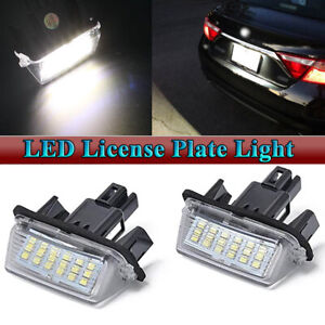 Rear Led Number License Plate Light Kit White Lamp For Toyota Camry 2012 2017