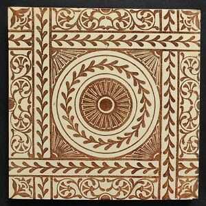 Aesthetic Movement Tile George Woolliscroft Son C 1895 1905