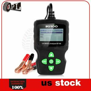 6v 12v 18v Lcd Vehicle Car Digital Battery Test Analyzer Detection Tool Bt100