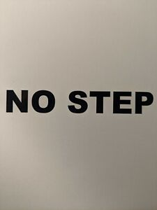 Set Of 5 no Step Sticker Decals For Heavy Duty Construction Equipment