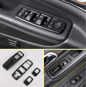 Car Window Lift Panel Switch Cover Trims 4pcs For Jeep Grand Cherokee 2011 2020