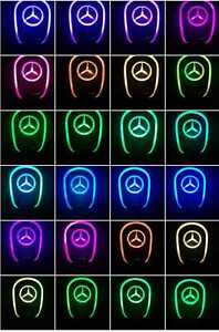 Gear Shift Knob Led Light Multi Color Touch Activated Sensor For Mercedes Benz