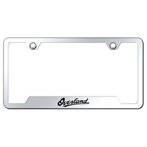 Mirrored Cut out License Plate Frame For Jeep Grand Cherokee Overland Augd6547