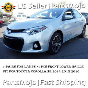 For 2014 2015 2016 Toyota Corolla S Usa Fog Light Fog Driving Lamps Pairs