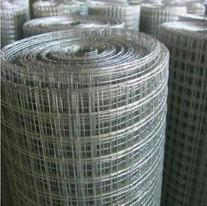 1 X 1 X 18 X 14 Gauge Galvanized After Welding 100 Wire Mesh