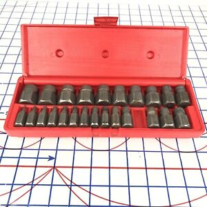 Cornwell Tools Usa 24 Piece 1 8 7 8 Bolt Extractor Easy Out Set Atc53227