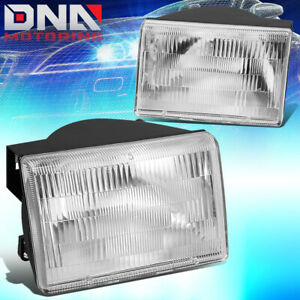For 1993 1998 Jeep Grand Cherokee Chrome Housing Clear Side Turn Headlight Lamps