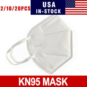 2 10 20 Pcs Kn95 Disposable Face Mask Adult Protective Ear Loop Mouth Cover