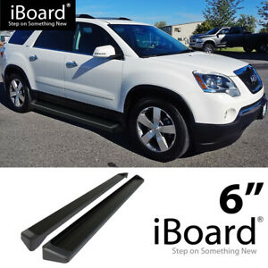 Iboard Black Running Boards Style Fit 09 17 Chevrolet Traverse Gmc Acadia