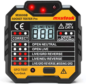 Mxuteuk Socket Tester gfci Receptacle Tester electric Tester Multi function With