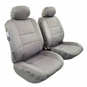 Front Waterproof Canvas Cool Gray Car Seat Covers For Toyota Tacoma
