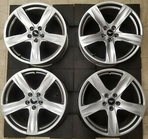 19 Ford Mustang 2013 2014 Oem Factory Set Of 4 Hyper Silver Wheel Rim 3910