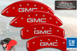 2018 2020 gmc Sierra 1500 At4 Front Rear Red Mgp Brake Disc Caliper Covers