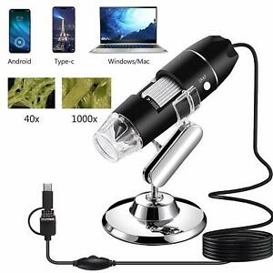 Usb Microscope 1000x Handheld Digital Microscope Camera With 8 Led Light