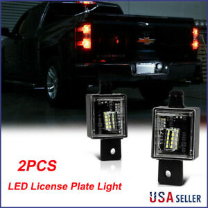 2pc Bright Led License Plate Light For Chevy Silverado Gmc Sierra 1500 2014 2018