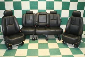 07 08 Avalanche Wear Black Leather Power Manual Front Buckets Backseat Set